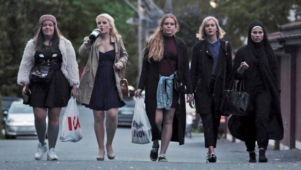 The wonderful Norwegian series Skam. Written and directed by Julie Andem. Seen from left to right: Chris - Ina Svenningdal, Vilde - Ulrikke Falch, Eva - Lisa Teige, Noora - Josefine Frida Pettersen and Sana - Iman Meskini.