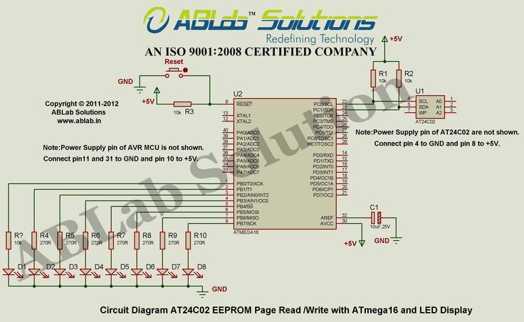 At24c02 Eeprom Page Read And Write With Avr Atmega16