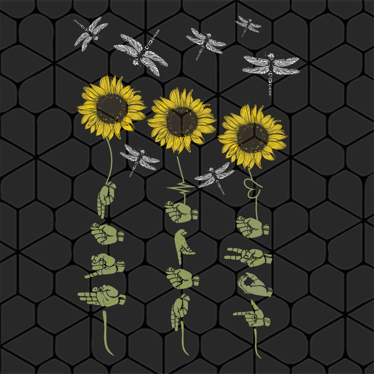 Download Faith Hope Love sign hand sunflower dragonfly SVG Files ...