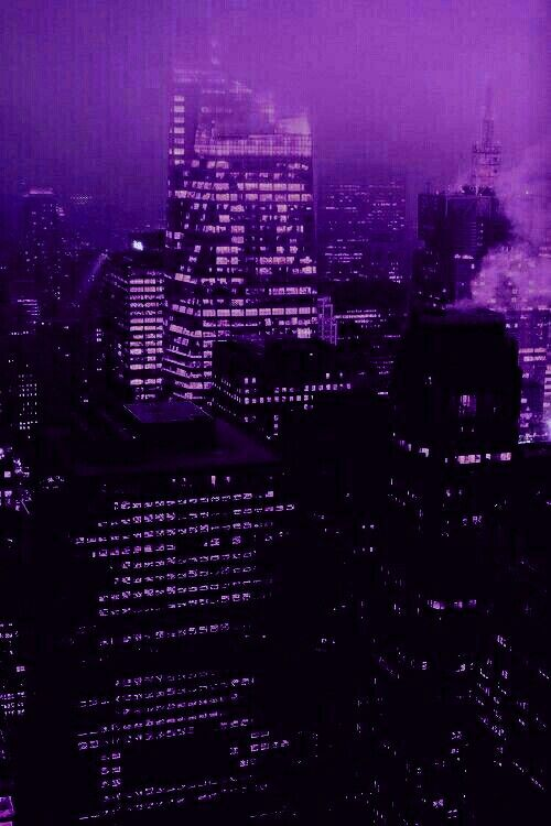 Purple tinted cityscape image