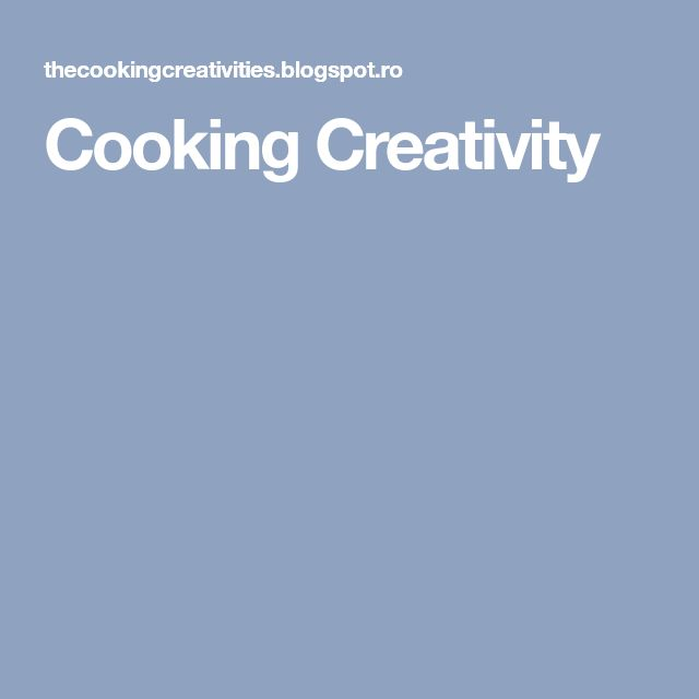 Cooking Creativity