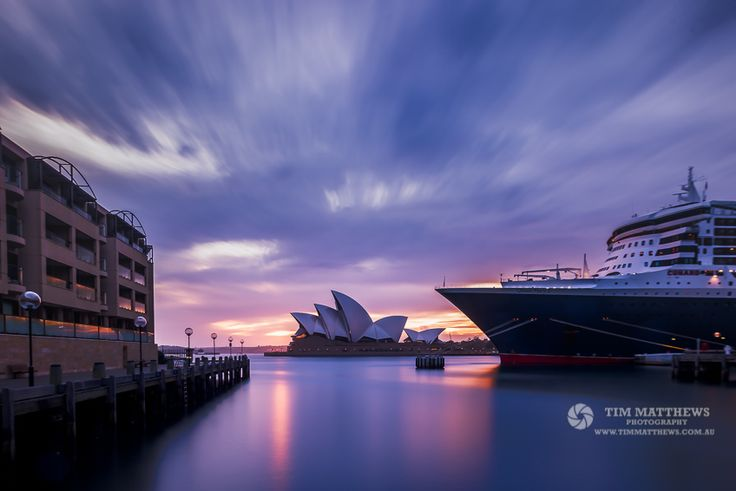 No 9 of my top 10 from 2016 This was taken back in March. I had know idea the Queen Mary 2 would be docked at Cicular Quay that morning.  I love the way the bow of the boat is alomst the same shape as the sails on the Opera House!  ================= Shot with Nikon D750  Tamron 24-70 mm f 2.8  345 secs | f /11 | 24 mm | ISO100 #Nisifilters 10stop ================ All images available for print in various media at www.timmatthews.com.au ================ ©Tim Matthews Photogra..