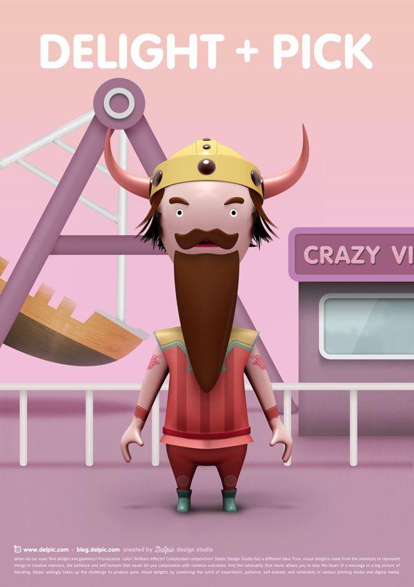 DELPIC design studio Poster on Character Design Served