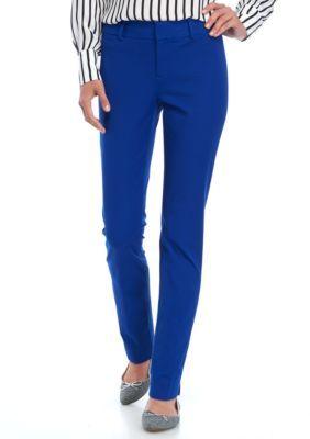 Crown & Ivy™ Women's Bi-Stretch Pants - Blue - 10 Average