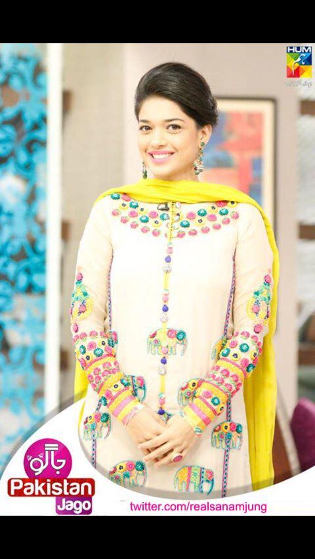 Pakistani actress Sanam jung