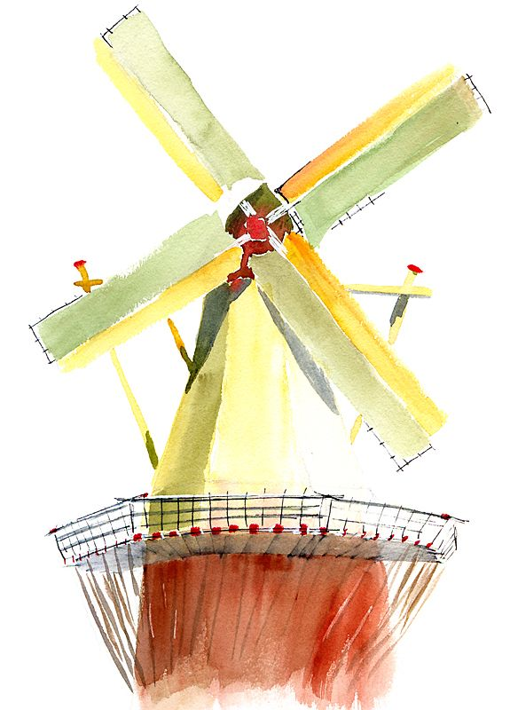 mill, #watercolor