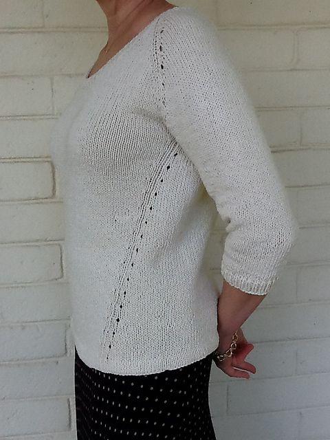 Вязание спицами джемпера Beeline от дизайнера Heidi Kirrmaier