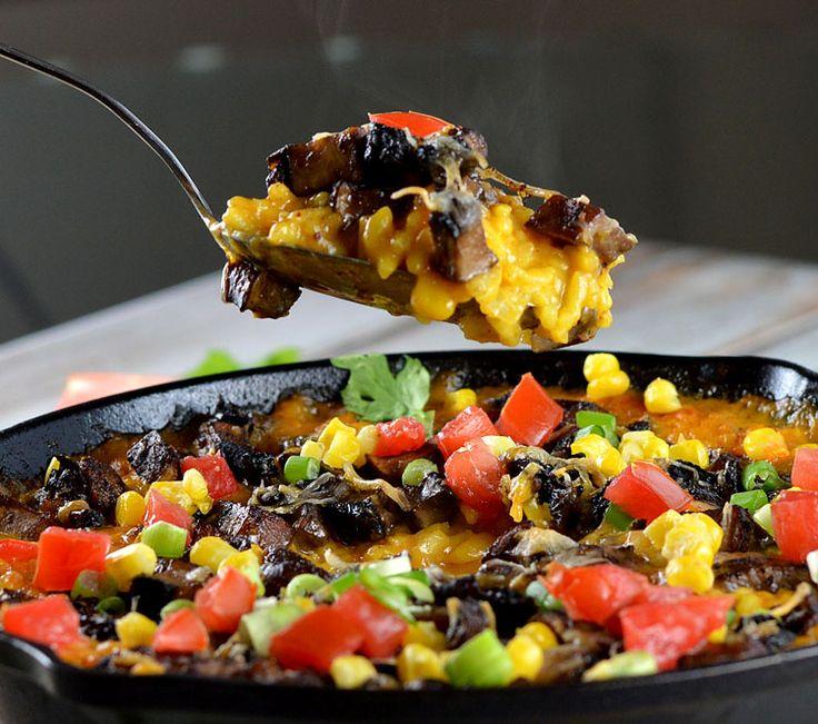 Vegan Cheesy Mexican Rice Casserole