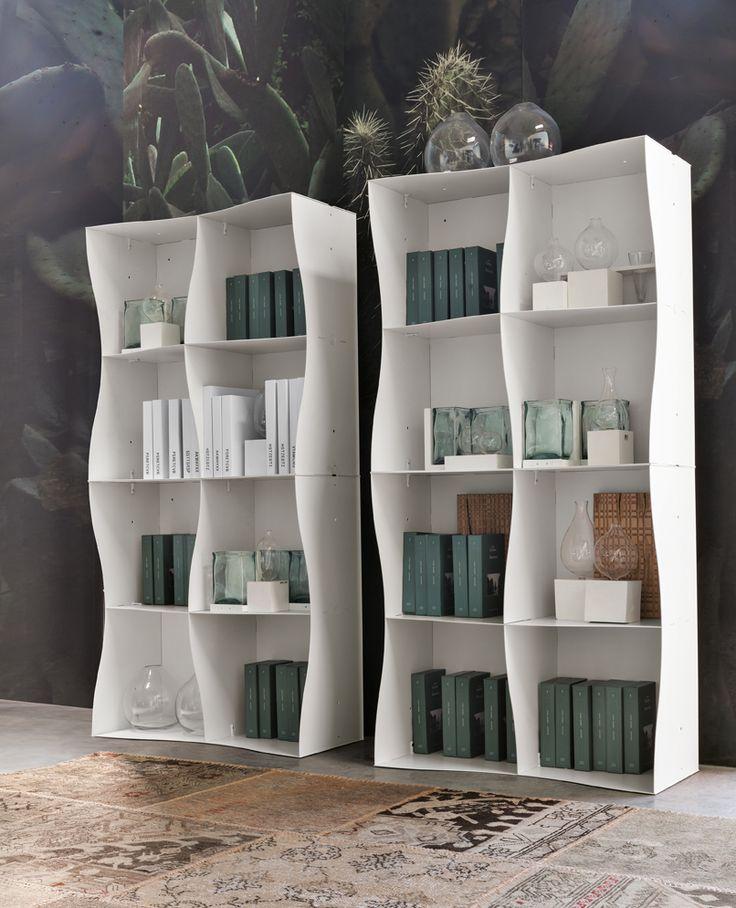 #Iron-ic #white #metal #bookcase. Ronda Design #madeinitaly