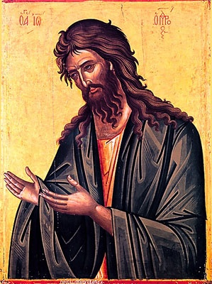 St. John the Baptist (from Deisis) - 16th c. Dionysiou Monastery