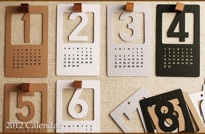 die cut calendar