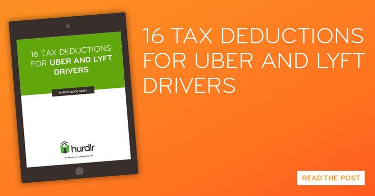 16 tax deductions Uber and Lyft drivers can use to make more money and pay less taxes in 2016. Download our free ebook on Uber driver tax deductions today!