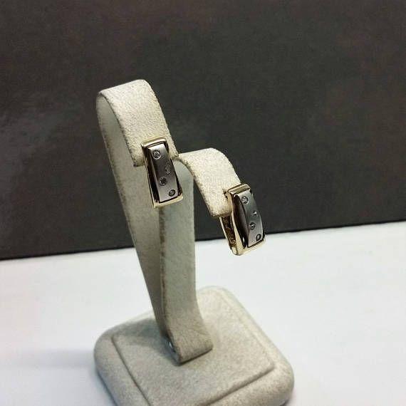 Ohrringe Ohrhänger Gold 585 Gelb/Weißgold Kristalle edel