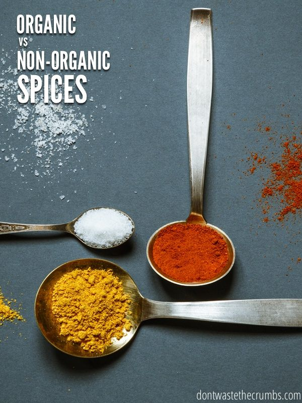 Find out the difference between organic vs. non-organic spices, plus recipes to make your own all-spice and pumpkin pie spice blends.