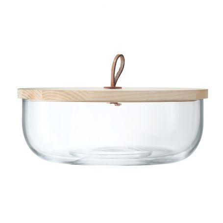 LSA International – Ivalo Glasschale & Deckel aus Esche – 11cm
