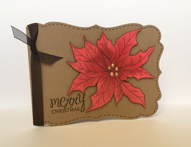 A personal favorite from my Etsy shop https://www.etsy.com/ca/listing/256564518/poinsettia-handmade-christmas-card
