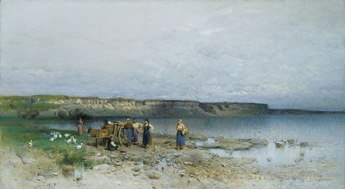 Mészöly, Géza Bay at Lake Balaton  1885