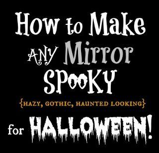 Make a Spooky Mirror for a Gothic Style Haunted Halloween Mantel   #halloween #halloweendecorating #mantel