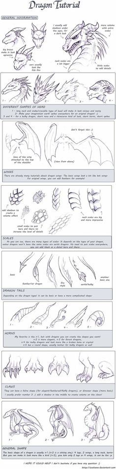 How to draw dragons: