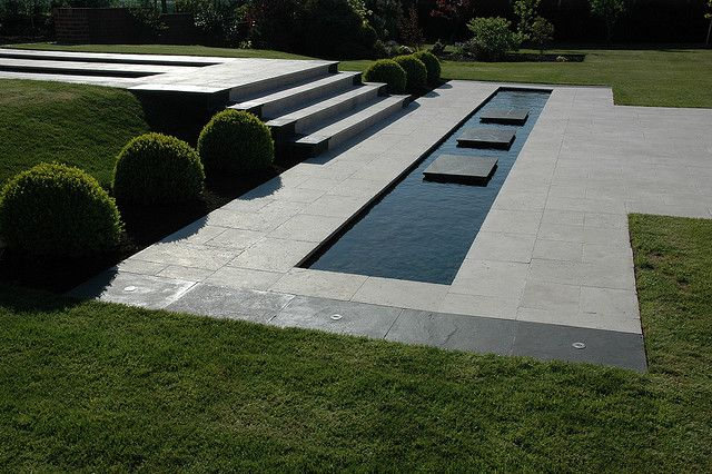 A clean lined minimalist design Design and photo credit; David Anderson Garden Design