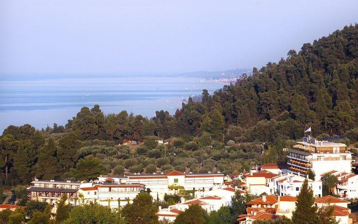 View of Kriopigi village !! Kriopigi Hotel  #Halkidiki #Greece  http://kriopigibeach.gr/