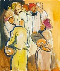Group of Arabs by Irma Stern