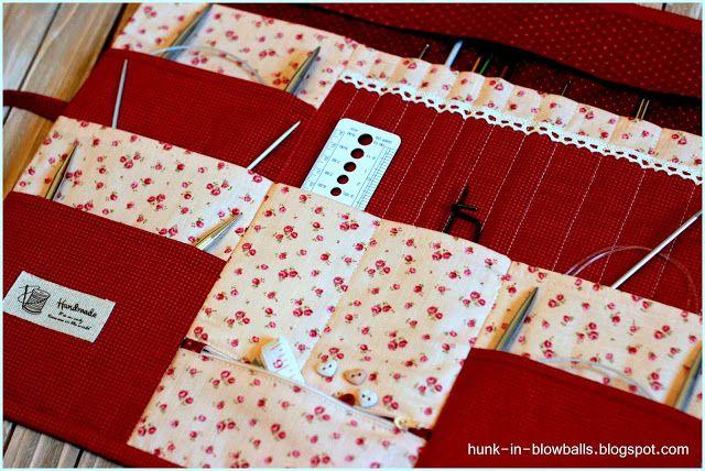 Чехол для хранения спиц и крючков   игольница / Knitting Needle Case