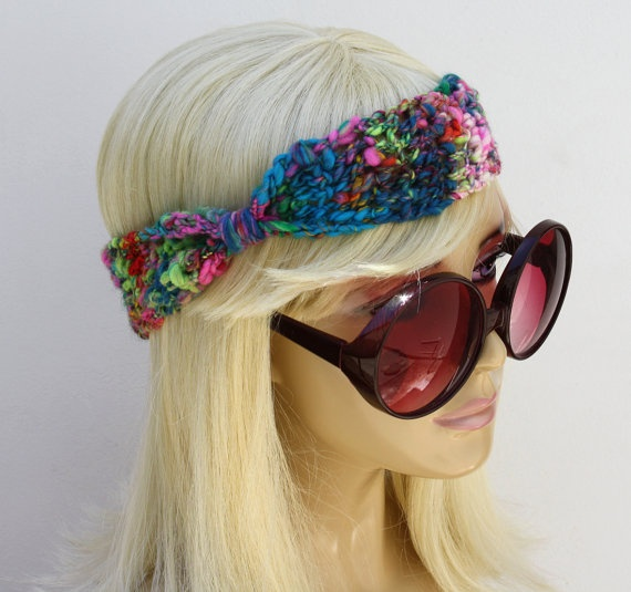 Hippie Headband Knitting Pattern : 97 best images about Crochet Retro Hippie on Pinterest ...