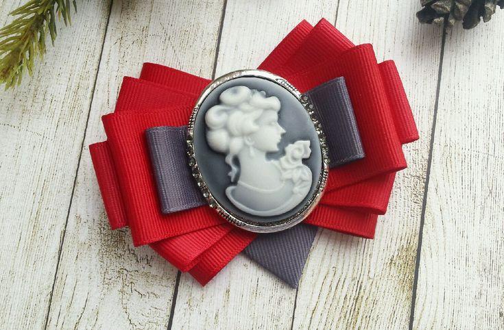 Брошь ' Grey & Red&#39