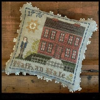 """LITTLE HOUSE NEEDLEWORKS """"Early Americans-#4 Nathan Hale"""" 
