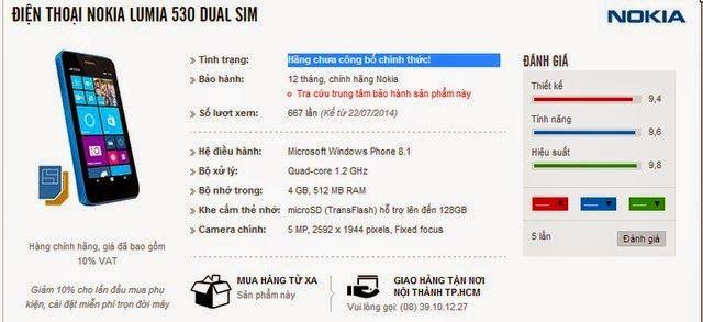 "Nokia 530 ""hậu bối"" của Nokia 520 xuất hiện tại Việt Nam http://dienthoainews.blogspot.com/2014/07/nokia-530-hau-boi-cua-nokia-520-xuat.html"