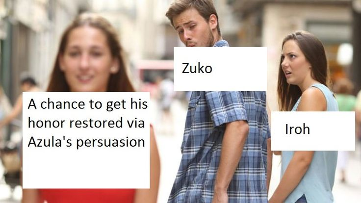 Zuko during the Crossroads of Destiny in a nutshell.