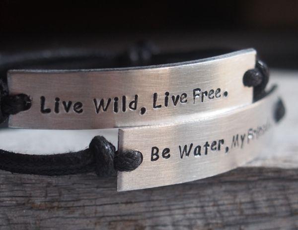 Personalized bracelet engraved bracelet quote bracelet, personalized couples…
