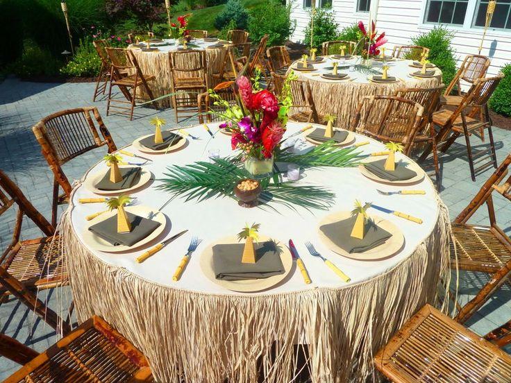 Luau theme inspirations on Pinterest  Luau party decorations, Tiki