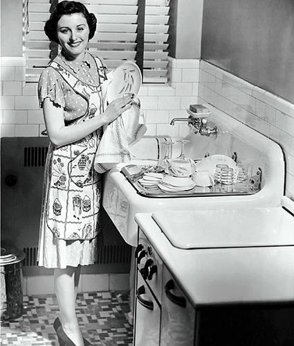 Hmmm, funny, I don't think that I usually smile when I wash the dishes!!?
