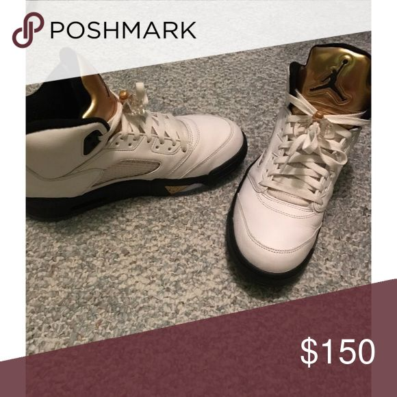 Jordan Olympic 5's Shoe inspired by 2016 Olympics in Rio. Perfect condition Jordan Shoes Sneakers