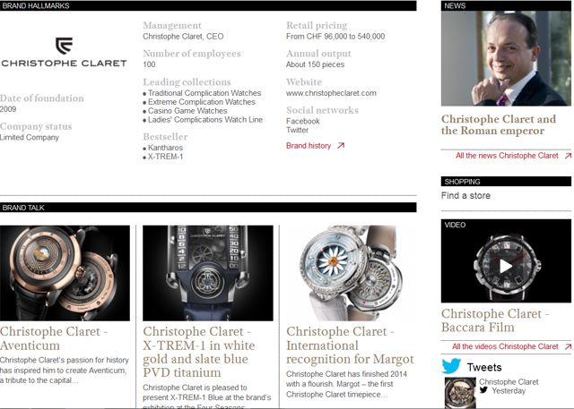 http://www.wthejournal.com/en/brand/category/christophe-claret  Discover the Christophe Claret's latest news and novelties on WtheJournal.com