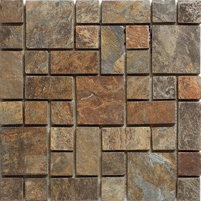 Kertiles French X Slate Mosaic Tile In Brown