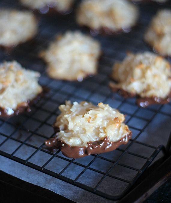 Salted Caramel Coconut Macaroons Recipe — Dishmaps