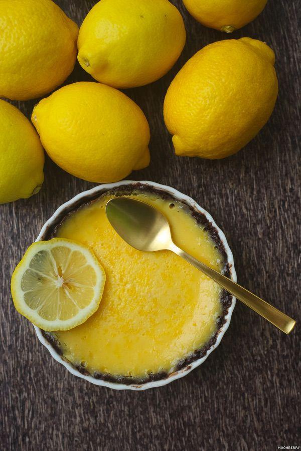 Lemon Creme Brulee Tart with Chocolate Crust
