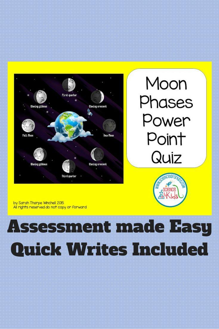 Moon Phases Assessment Made Easy  http://bit.ly/1M9td0i