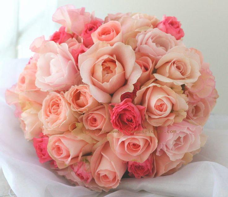 ブーケ クラッチ 甘い甘いピンク : 一会 ウエディングの花