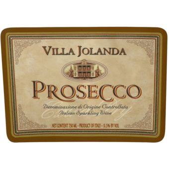 Villa Jolanda Prosecco Spumante is a unique sparkling wine made from the grapes Prosecco del Veneto, using the Charmat natural re-fermentation method. It is a strawy yellow color with greenish flashes and a characteristic bouquet of ripe apple and a scent of acacia flowers. It is excellent as an aperitif and perfect for hors d`oeuvres and main courses!