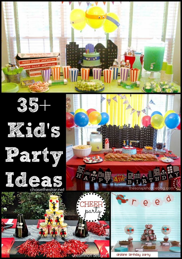 35 Kid's Party Ideas via Chase the Star