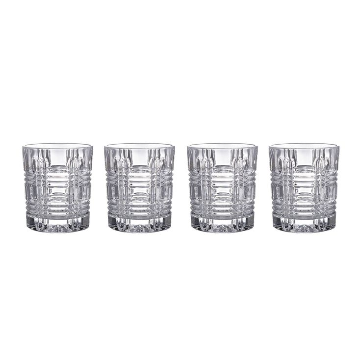 Set of 4 Portland Double Old Fashioned Glasses