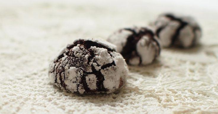 Laskominy od Maryny: Pomerančové popraskané sušenky / Orange Chocolate cookies