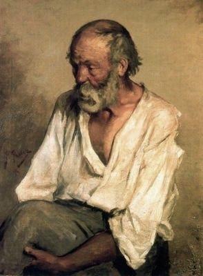 """Pablo Picasso, """"El viejo pescador"""", 1895,  Museo de Montserrat"""