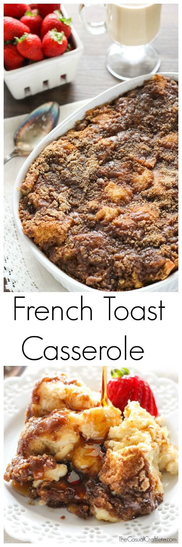 Overnight French Toast Casserole is great for the holidays! SO EASY!