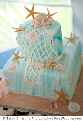 starfish beach theme wedding cakes