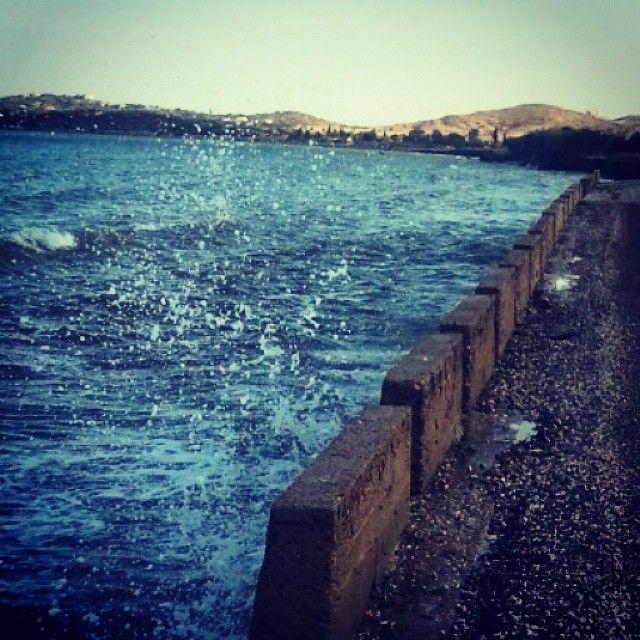 #waves #seaside #running #outdoor #ontherun #ermioni  (στην τοποθεσία Ermióni, Greece)